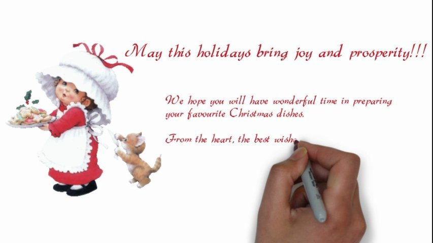 Create animated personalised greeting card for