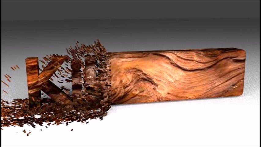 Make a wood chipping animation