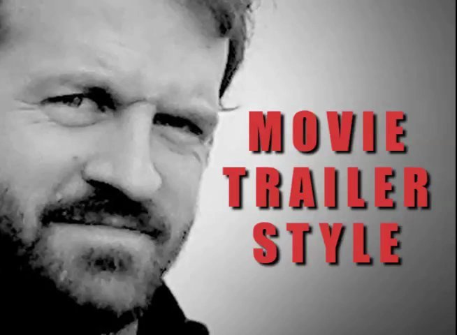 Create a 'Movie Trailer' voiceover of up to 250 words for your video voice over