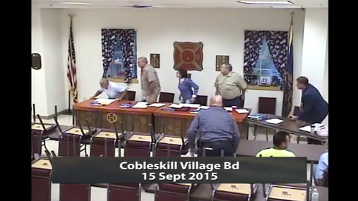 Cobleskill Village Bd 15 Sept 2015