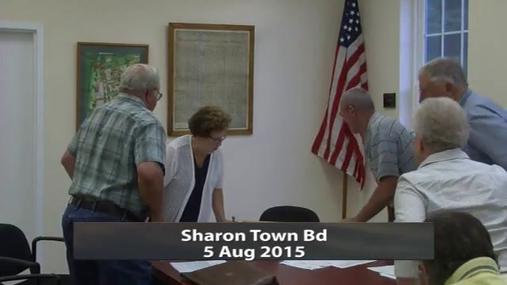Sharon Town Bd 5 Aug 2015