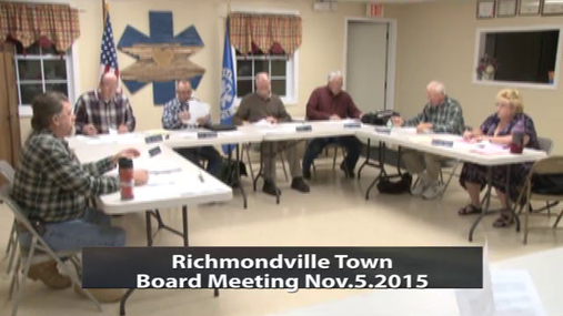 Richmondville Town Bd Nov.5.2015