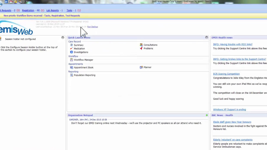 LMS - Recs_Admin - Quick Access Toolbar