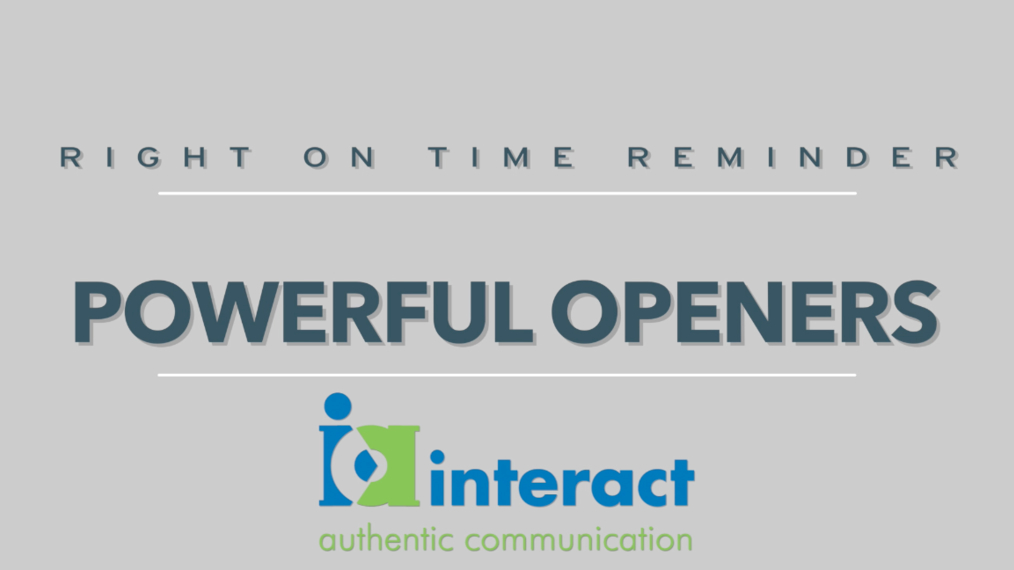 Right On Time Reminders - Powerful Openers