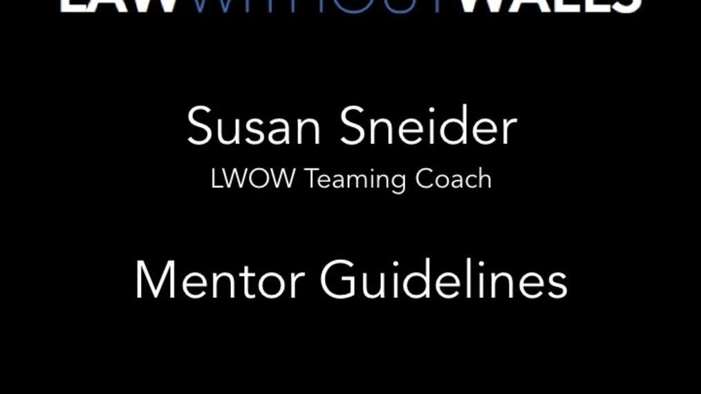 Susan Sneider - Mentor Talk