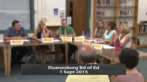 Duanesburg Bd of Ed 1 Sept 2015 Pt 1