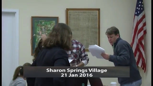 Sharon Springs Village -- Jan 21 2016