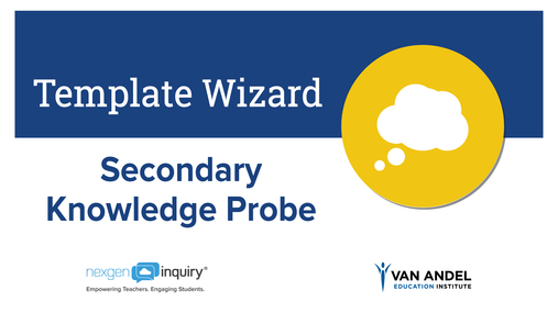 Template Wizard - Secondary Knowledge Probe