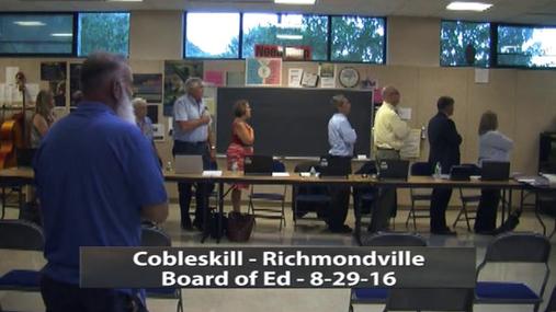 Cobleskill-Richmondville -- BOE 8-29-16