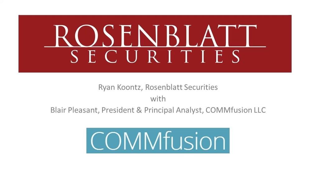 Rosenblatt Webinar with COMMfusion