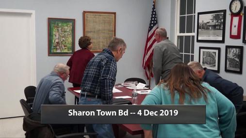 Sharon Town Bd -- 4 Dec 2019