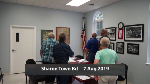 Sharon Town Bd -- 7-- Aug 2019