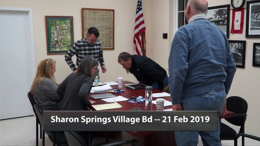 Sharon Springs Village Bd -- 21 Feb 2019