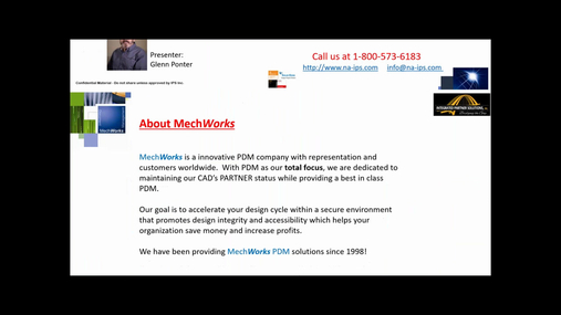 MechWorks PDM Auto-Numbering. Save-As with temp name, then Rename using MechWorks PDM to assign a production Part Number.