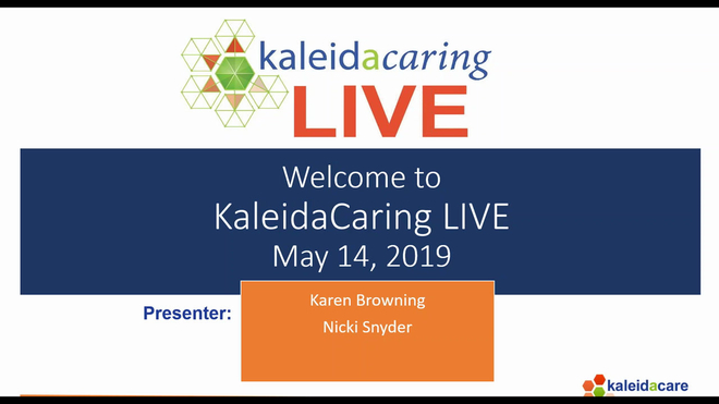 KaleidaCaring LIVE 2019-05