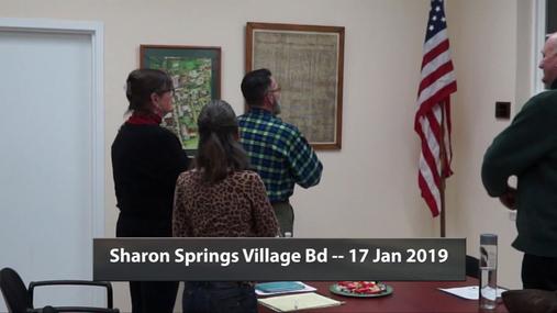 Sharon Springs Village Bd -- 17 Jan 2019