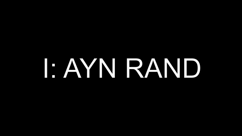I: Ayn Rand (3rd place best actress: Debbie Irwin, 4th place Honorable Mention)