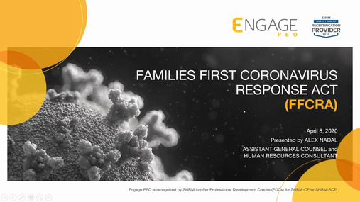 Families First Coronavirus Response Act (FFCRA) - April HR Webinar