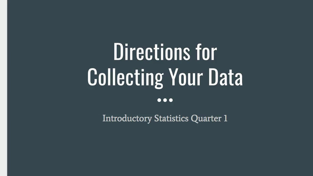 NEW Step 3 - Collecting Your Data.mp4