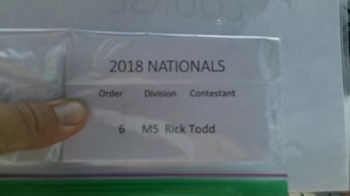 Rick Todd M5 Round 1 Pass 1