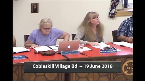 Cobleskill Village Bd -- 19 June 2018
