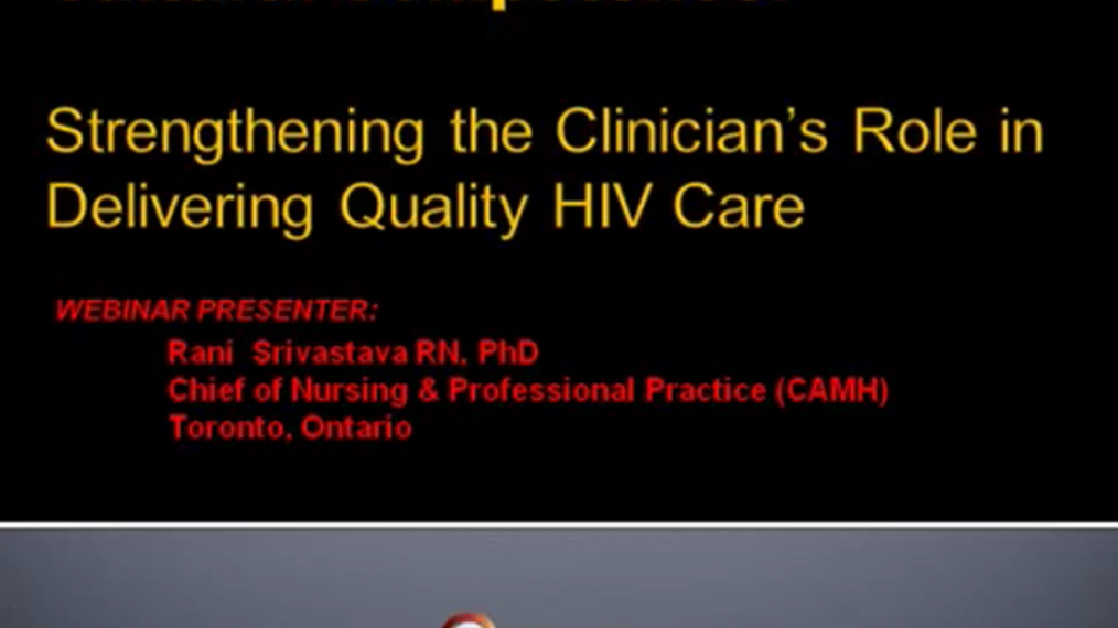 Cultural Competence: Strengthening the Clinician's Role in Delivering Quality HIV Care