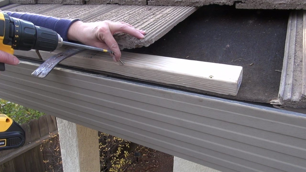 Installing On Tile Gutter