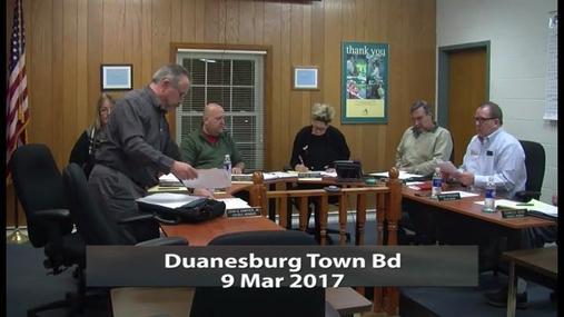 Duanesburg Town Bd_9 Mar 2017