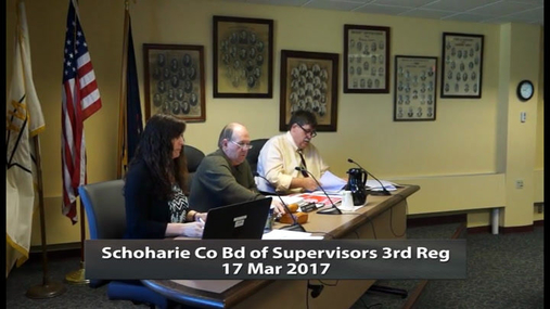 Schoharie Co Bd of Supervisors_ 3rd Reg_17 Mar 2017