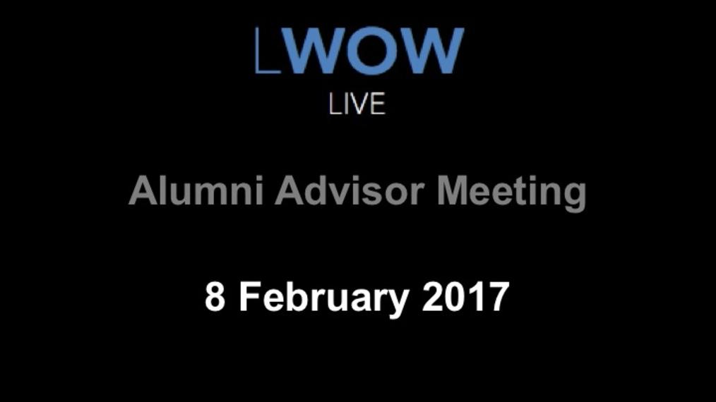 Alumni Advisor Meeting