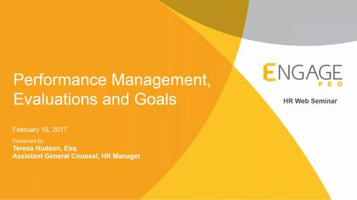 February 2017 HR Webinar: Performance Management