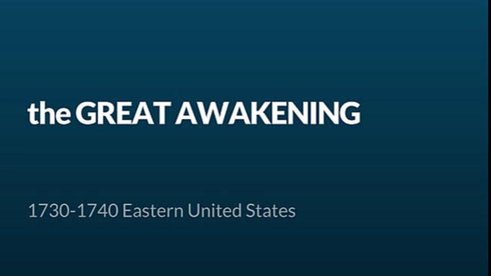 ENG 11-The Great Awakening