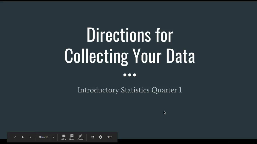 Directions for Collecting Your Data