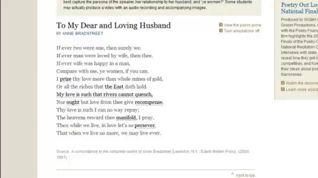 English 11 Anne Bradstreet -To My Dear and Loving Husband-.mp4