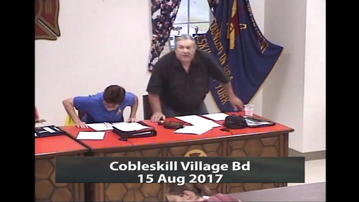 Cobleskill Village Bd -- 15 Aug 2017