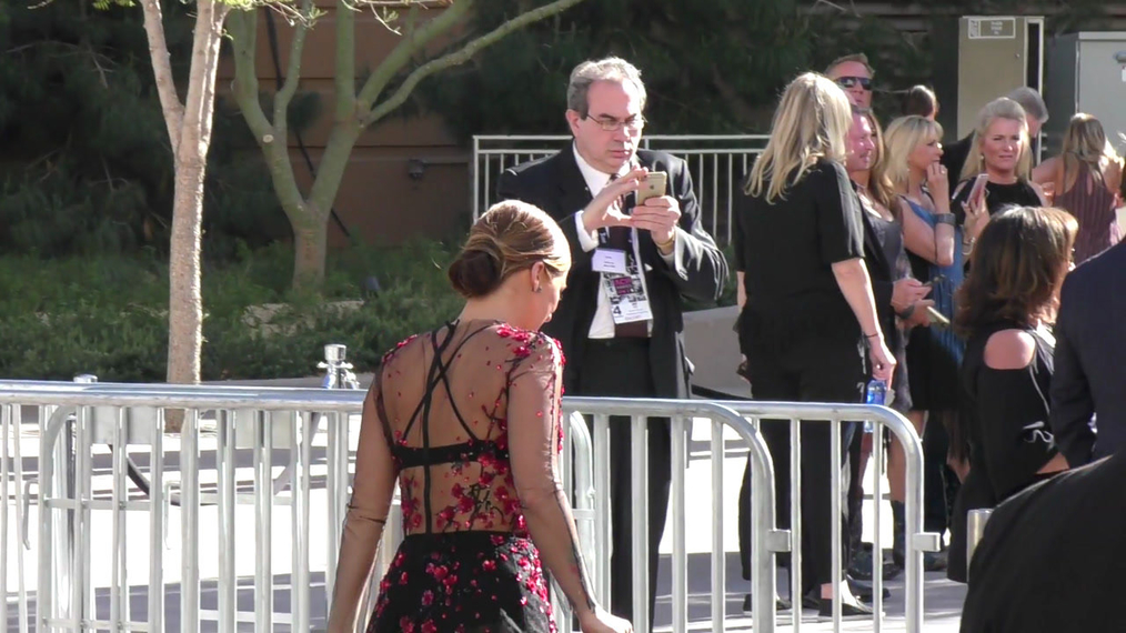 Cassadee Pope arriving to the 52nd Academy Of Country Music Awards at T-Mobile Arena in Las Vegas.mp4