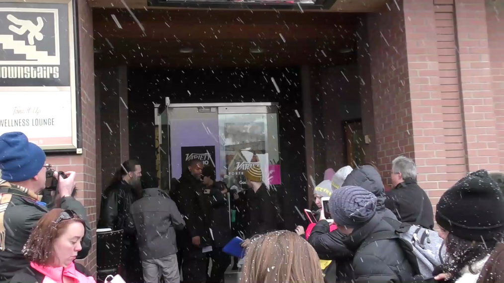 Dave Franco and Molly Shannon on Main Street at Sundance Film Festival in Park City.mp4