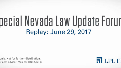Special Nevada Law Update Forum Replay: June 29, 2017