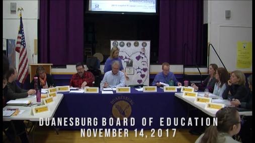 Duanesburg Bd of Ed -- 14 Nov 2017