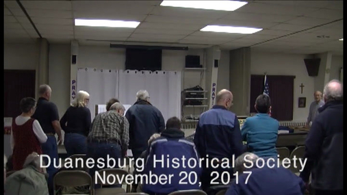 Duanesburg Historical Society -- 20 Nov 2017