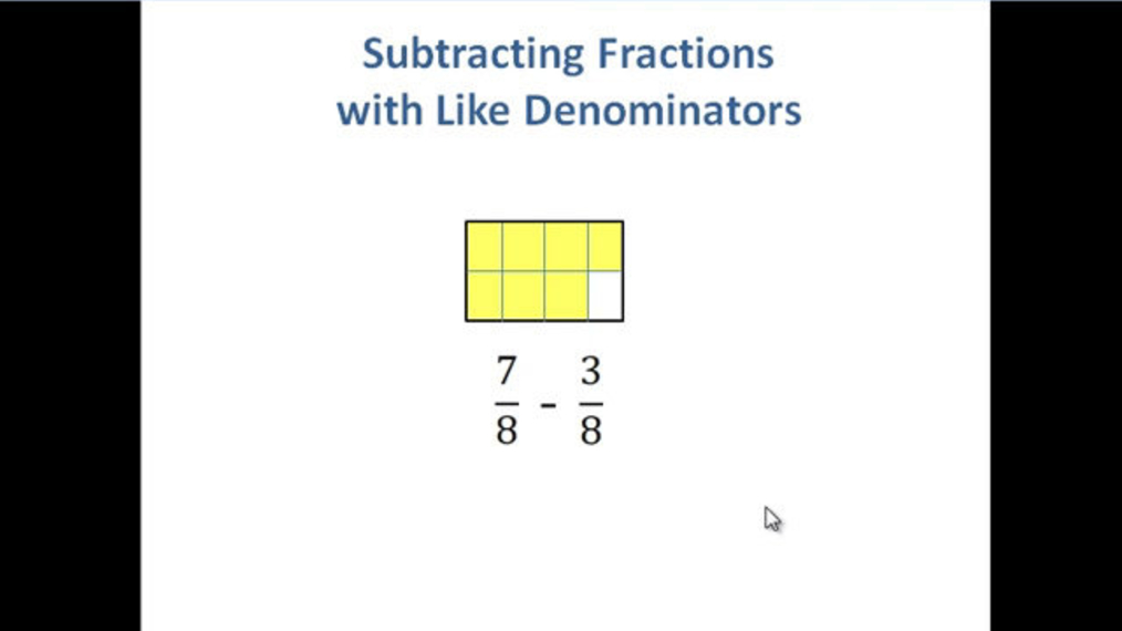 Subtract Fractions with Like Denominators.mp4