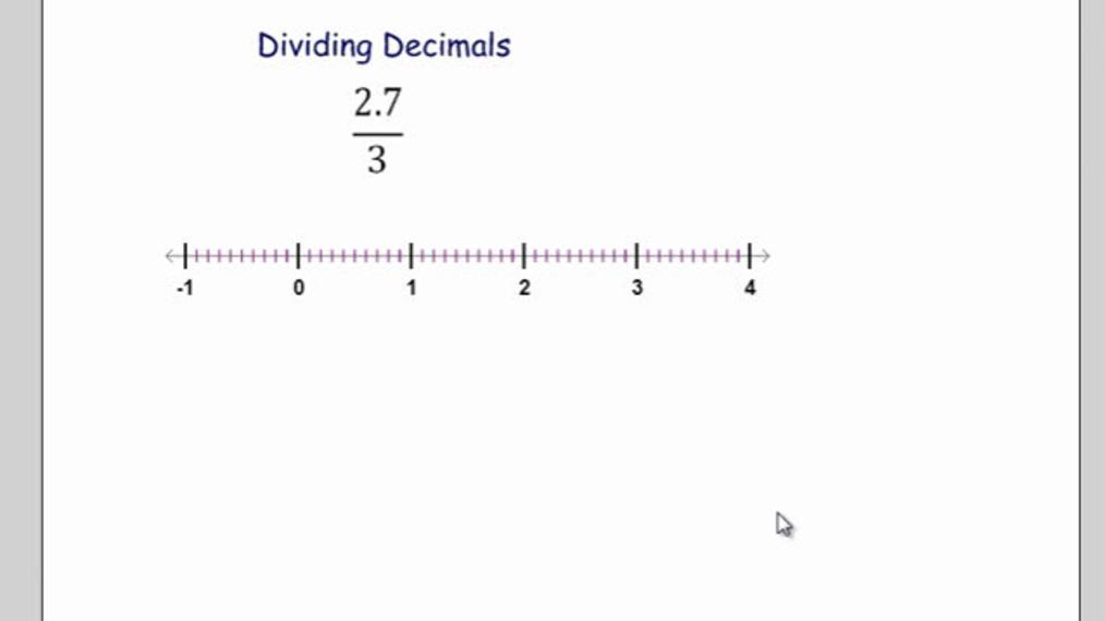 Divide Decimals on the Number Line.mp4