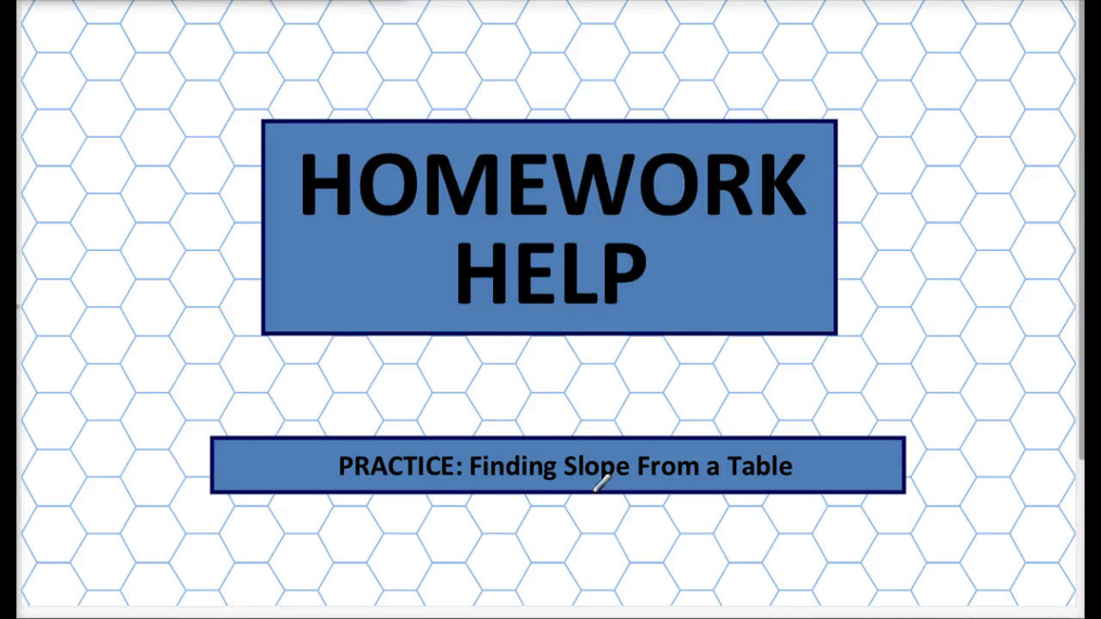 Q1 HH Finding Slope From a Table.mp4