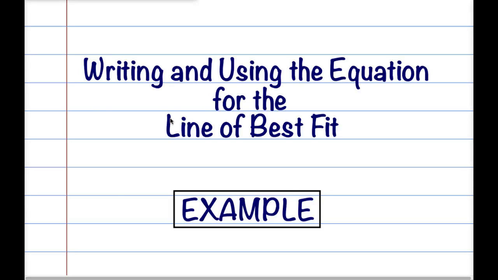 Math 8 Q2 - Writing the Equation for Line of Best Fit.mp4