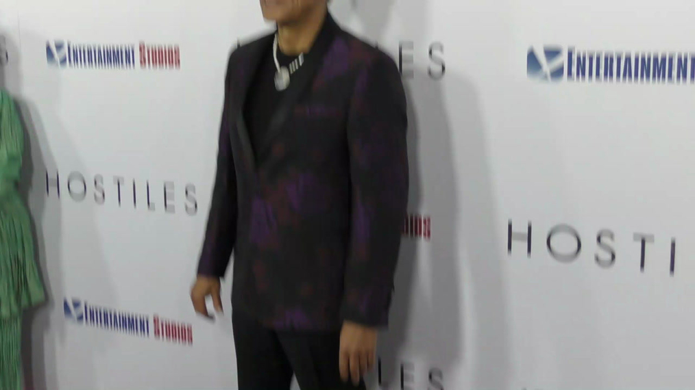 Wes Studi at the Hostiles Premiere at Samuel Goldwyn Theater in Beverly Hills.mp4