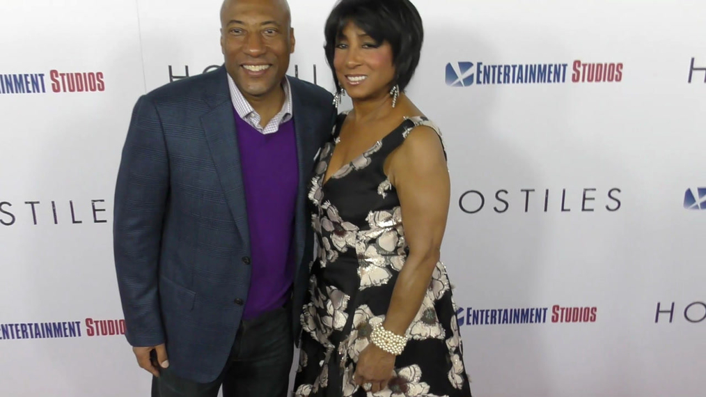 Byron Allen and Carolyn Folks at the Hostiles Premiere at Samuel Goldwyn Theater in Beverly Hills.mp4