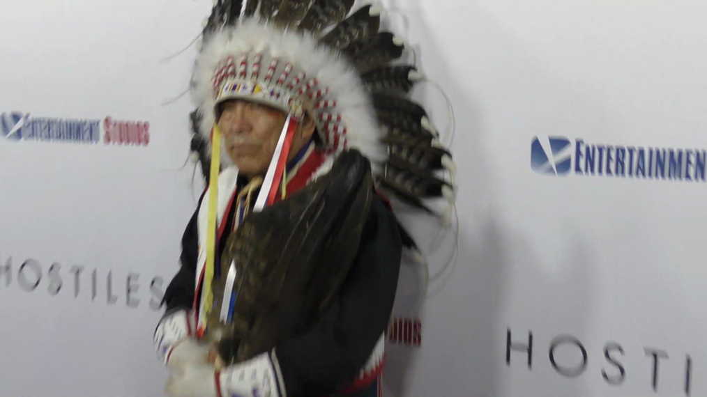 Chief Phillip Whiteman Jr at the Hostiles Premiere at Samuel Goldwyn Theater in Beverly Hills.mp4
