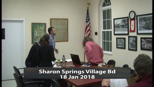 Sharon Springs Village Bd -- 18 Jan 2018