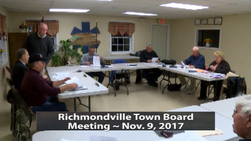 Richmondville Twn Brd. -- 11-9-2017