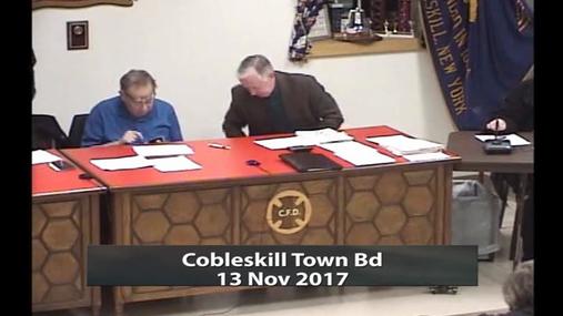 Cobleskilll Town Bd -- 13 Nov 2017